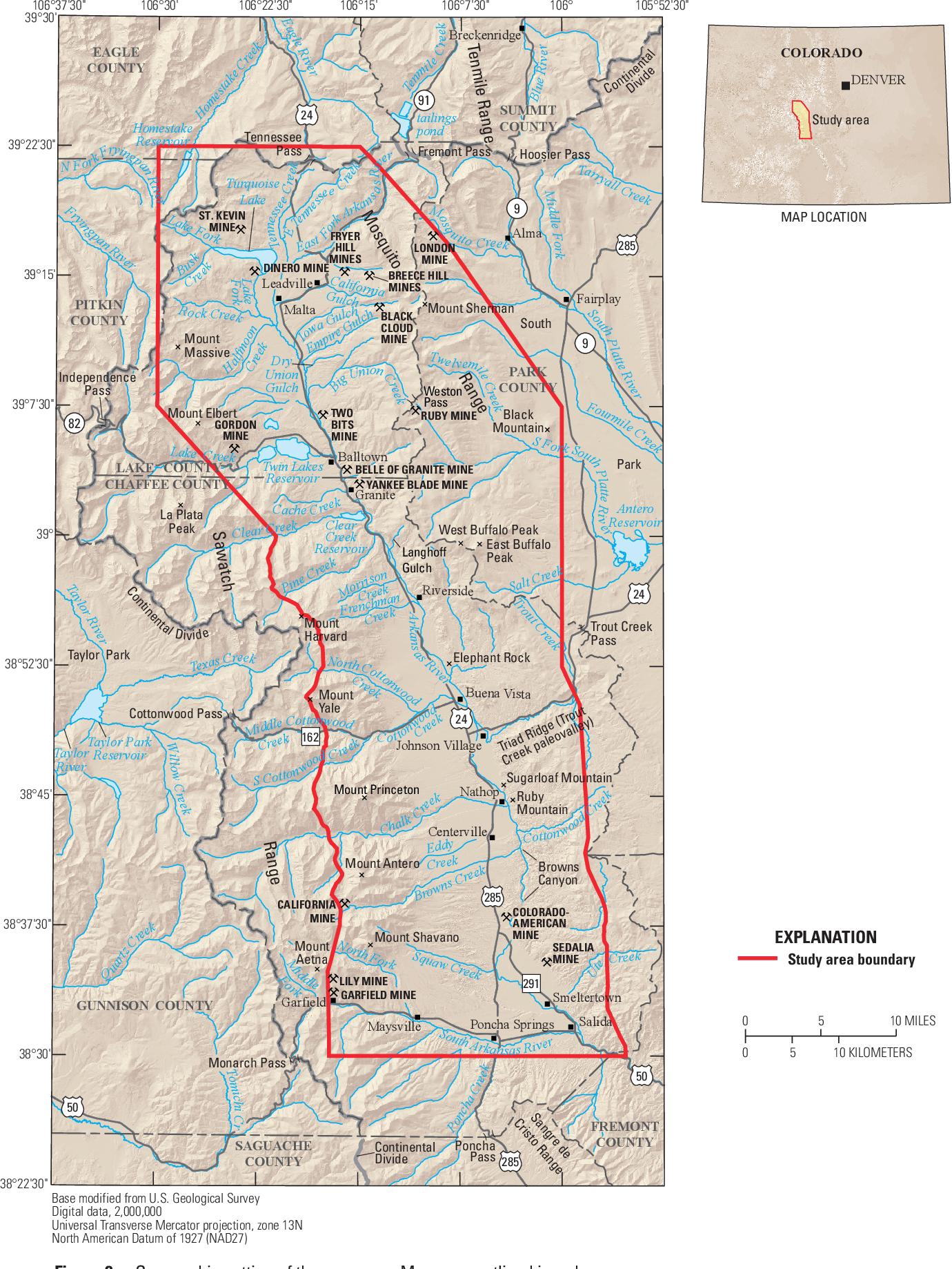 PDF] Geologic map of the upper Arkansas River valley region ...