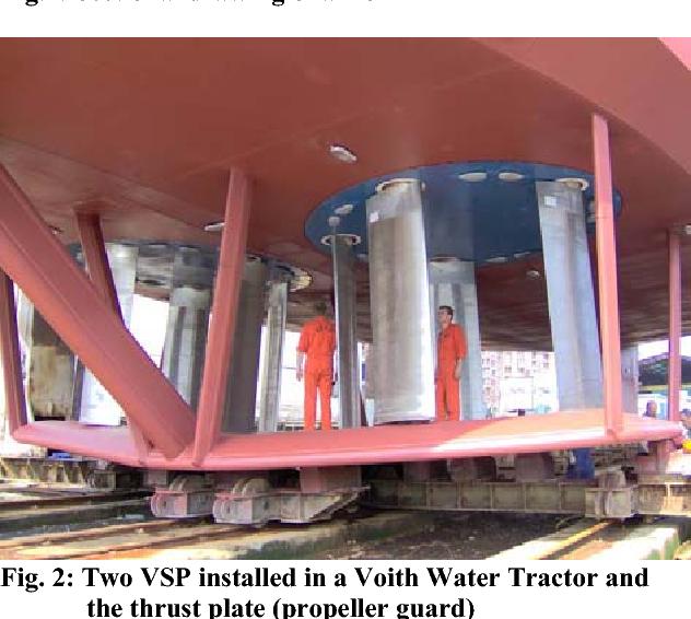 Pdf Voith Schneider Propeller Vsp Investigations Of The Cavitation Behaviour Semantic Scholar