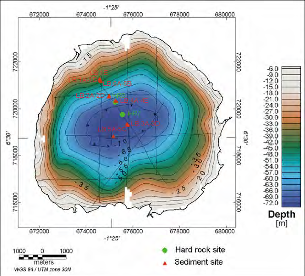 Ghana Karte.Figure 15 From Bosumtwi Impact Crater Ghana West Africa