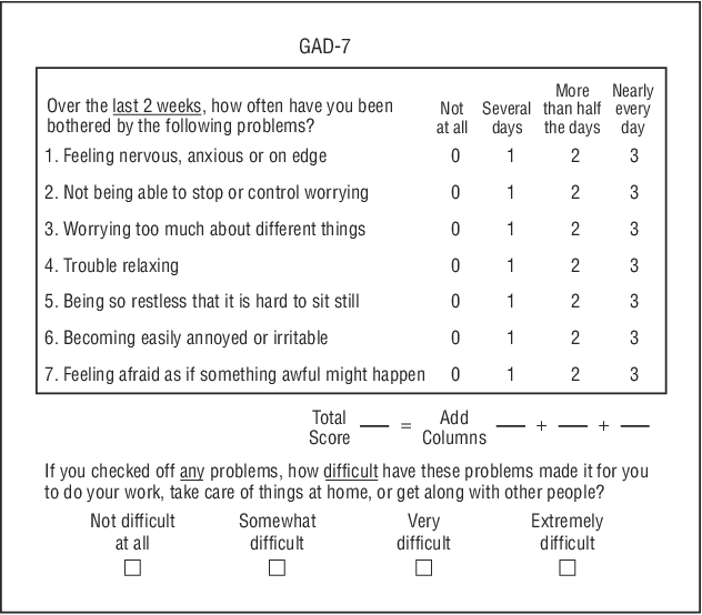 Figure 1 From A Brief Measure For Assessing Generalized Anxiety Disorder The Gad 7 Semantic Scholar