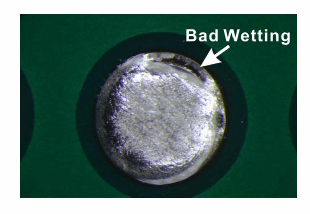 Figure 7 from Failure analysis on bad wetting of ENIG